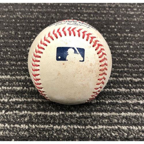 Photo of 2019 Game Used Baseball - 8/31/19 - SF vs SD - B-6: Lucchesi to Posey - Single