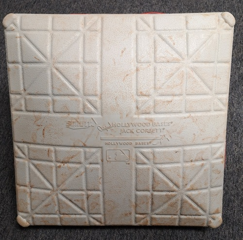 Photo of Authenticated Game Used Base: 1st Base for Innings 1 to 3 and 7 to 9 (Jun 28 - Jul 1, 19 vs KCR): Canada Day Weekend Bases in Place for Guerrero Jr's 8th Career HR and Walk-Off HR by Danny Jansen