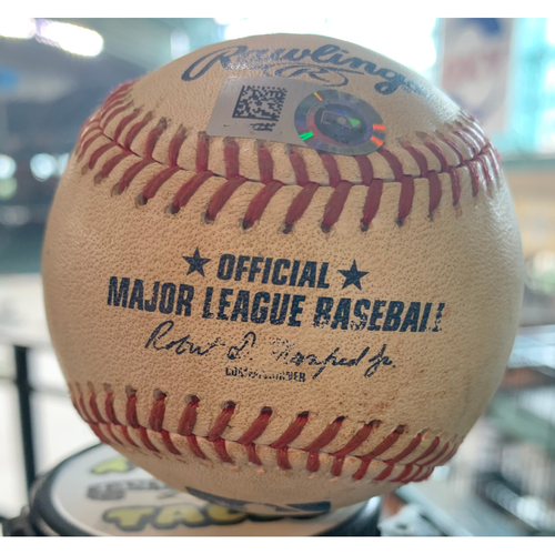 Photo of 2019 Game-Used Baseball  9/5/19 Astros vs. Mariners: Marco Gonzales to Alex Bregman-Bottom 3rd (RBI Double to CF)