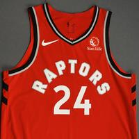 Norman Powell - Toronto Raptors - Game-Worn Icon Edition Jersey - NBA Japan Games - Scored Team-High 22 Points - 2019-20 NBA Season