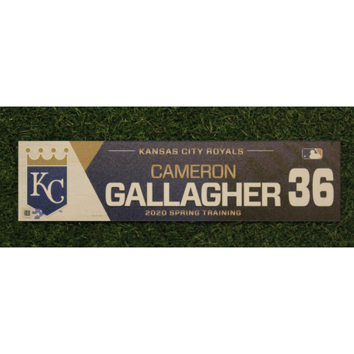 Game-Used Spring Training Locker Tag: Cam Gallagher #36