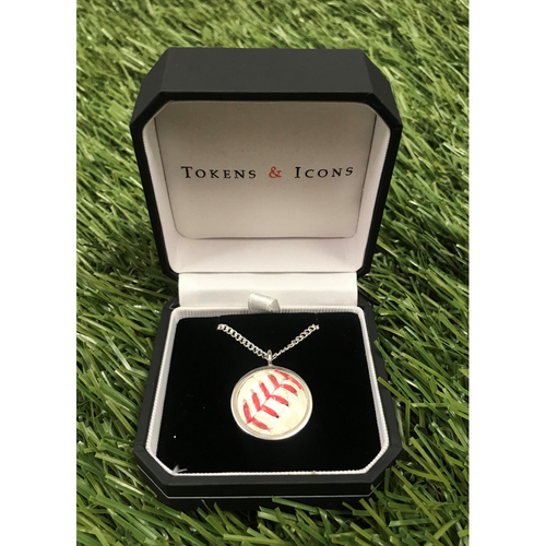 Photo of Necklace Made with Game-Used World Series Baseball