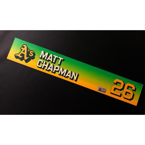 Photo of Team Issued 2020 Season Locker Nameplate - Matt Chapman