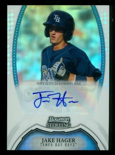 Photo of 2011 Bowman Sterling Prospect Autographs Refractors #JH Jake Hager