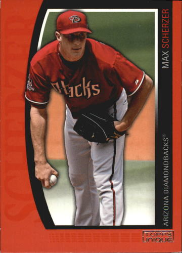 Photo of 2009 Topps Unique Red #54 Max Scherzer