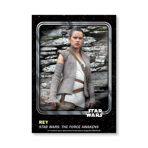 Rey  2016 Star Wars Card Trader Base Poster - # to 99