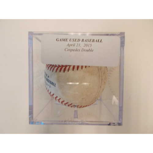 Game-Used Baseball: Yoenis Cespedes Double