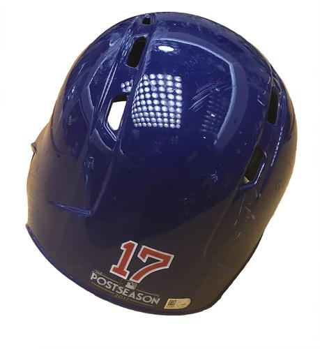 Kris Bryant 2017 Postseason Batting Helmet