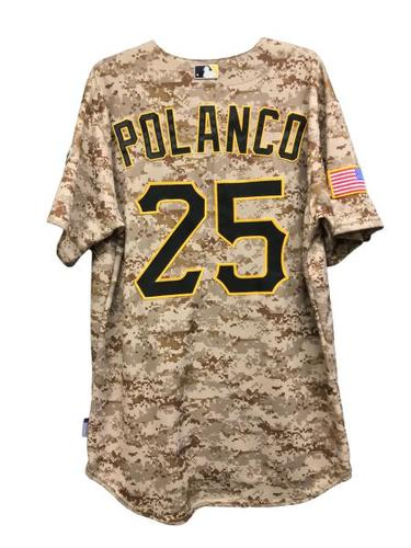 Photo of Gregory Polanco Game-Used Jersey - 1 for 3, 2 Runs Scored