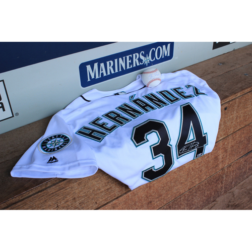 Photo of Mariners Care Charity Night: Félix Hernández Autographed Jersey & Autographed Baseball