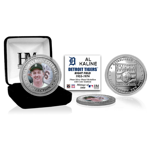 Photo of Al Kaline Baseball Hall of Fame Silver Color Coin