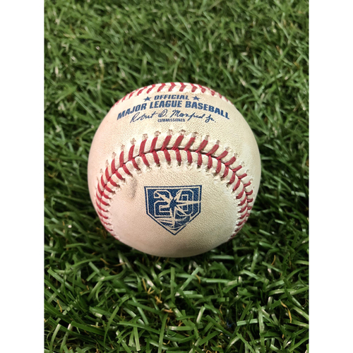 Photo of 20th Anniversary Player Collected Baseball: Hunter Dozier Home Run off Yonny Chirinos - August 22, 2018 v KC