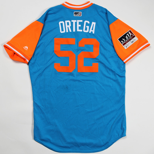 "Photo of Rafael ""Ortega"" Ortega Miami Marlins Game-Used Jersey 2018 Players' Weekend Jersey"