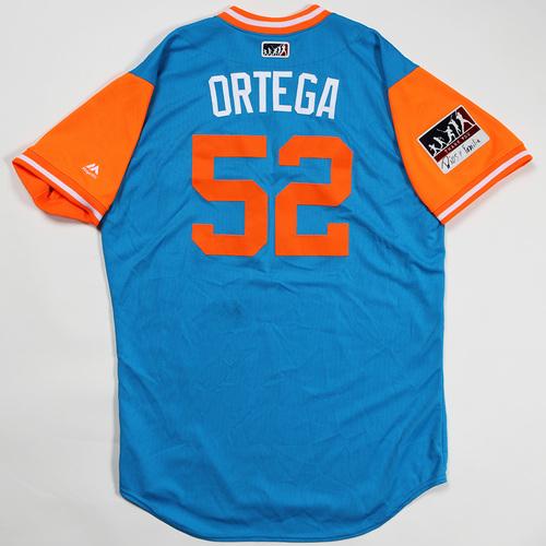 "Photo of Rafael ""Ortega"" Ortega Miami Marlins Game-Used Jersey 2018 Players' Weekend Jersey"