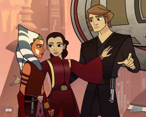Anakin Skywalker, Ahsoka Tano and Padmé Amidala