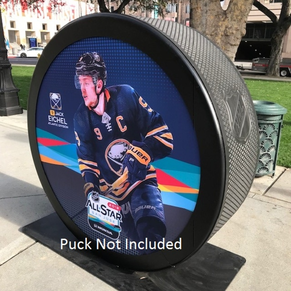 2019 NHL All Star Game Banner Featuring Jack Eichel (Buffalo Sabres)