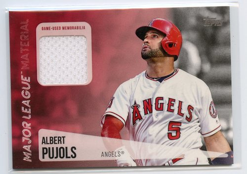 Photo of 2019 Topps Major League Materials #MLMAP Albert Pujols