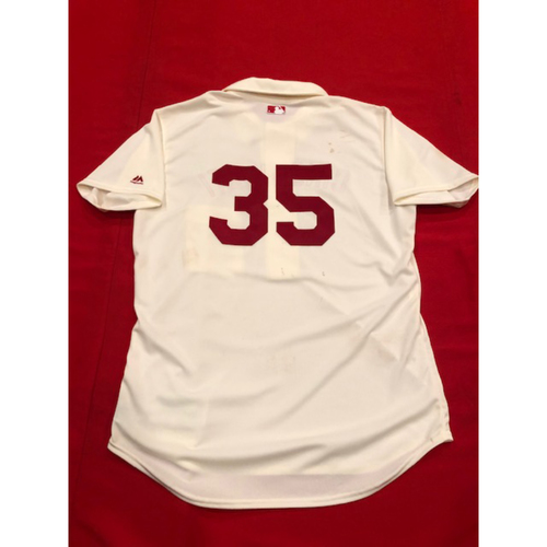 Tanner Roark -- 1902 Throwback Jersey -- Game-Used -- SF vs. CIN on May 4, 2019