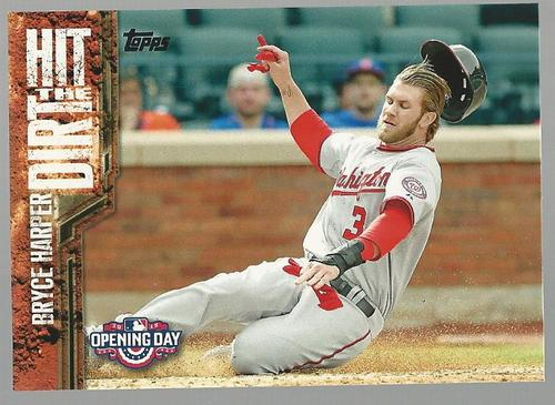 Photo of 2015 Topps Opening Day Hit the Dirt #HTD01 Bryce Harper