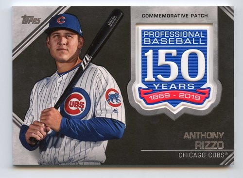 Photo of 2019 Topps 150th Anniversary Manufactured Patches #AMPAR Anthony Rizzo S2