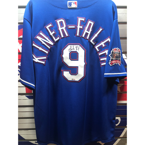 Photo of Isiah Kiner-Falefa Final Season Patch Blue Autographed Replica Jersey