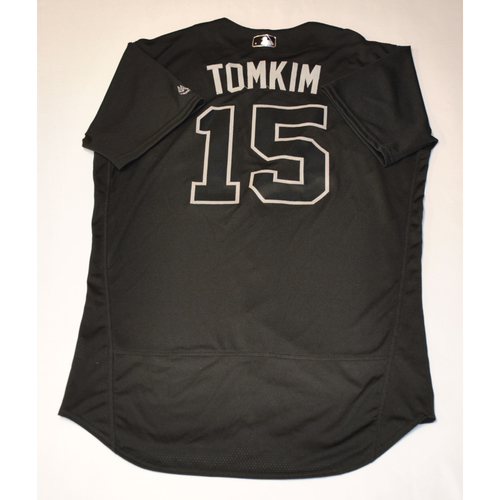 "Photo of Pablo ""TOMKIM"" Reyes Pittsburgh Pirates Game-Used 2019 Players' Weekend Jersey"