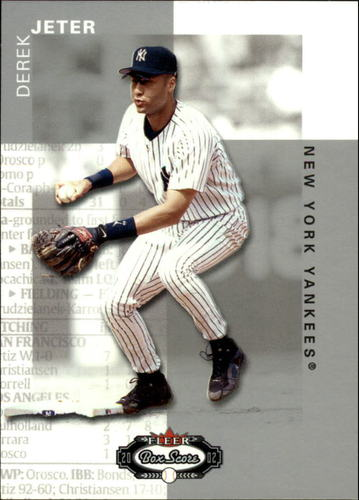 Photo of 2002 Fleer Box Score #1 Derek Jeter