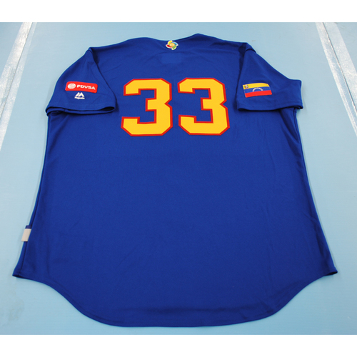 Photo of 2017 World Baseball Classic: Venezuela Batting Practice Jersey #33 - Martin Perez