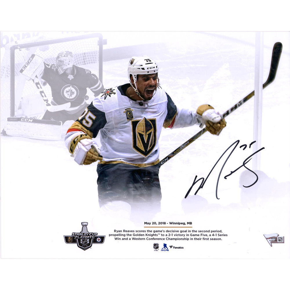 Ryan Reaves Vegas Golden Knights Autographed 11