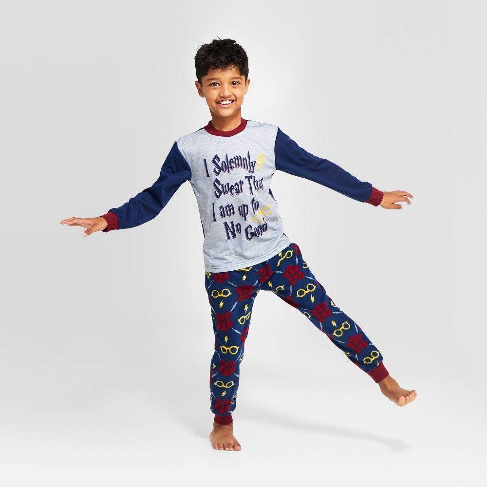 Photo of Kids Harry Potter Holiday I Solemnly Swear Pajama Set