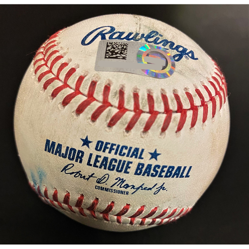 Photo of Tyler Alexander Detroit Tigers Strikeout Baseball (MLB AUTHENTICATED)