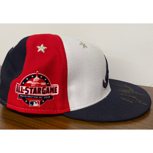 Photo of Nick Markakis MLB Authenticated Autographed 2018 All Star Game Hat (Size 7 7/8)