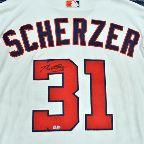 Photo of Washington Nationals Philanthropies Jerseys Off Their Back Auction - Max Scherzer - Autographed Team-Issued Jersey - Size 48TC