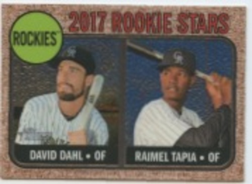 Photo of 2017 Topps Heritage Chrome #258 Raimel Tapia/David Dahl