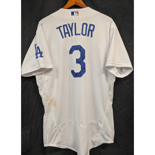 Photo of Chris Taylor Game-Used Jersey - 9/13/20 v Astros - Hit Home Run