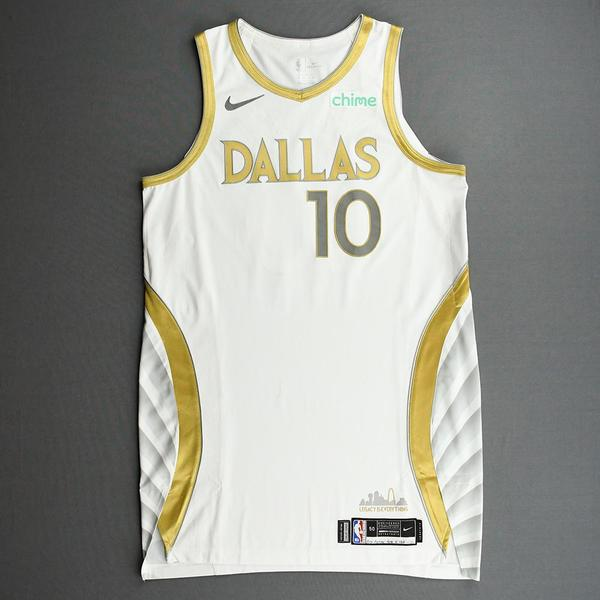 Image of Dorian Finney-Smith - Dallas Mavericks - Game-Worn - City Edition Jersey - 2020-21 NBA Season