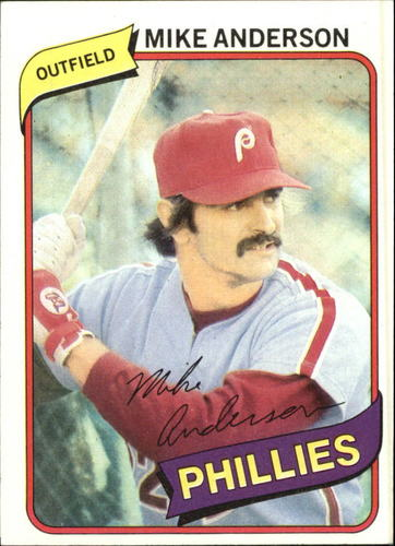 Photo of 1980 Topps #317 Mike Anderson DP