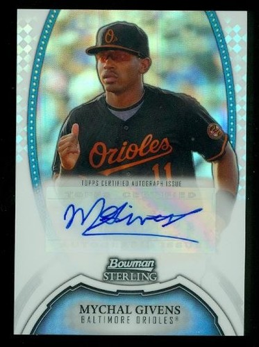 Photo of 2011 Bowman Sterling Prospect Autographs Refractors #MG Mychal Givens
