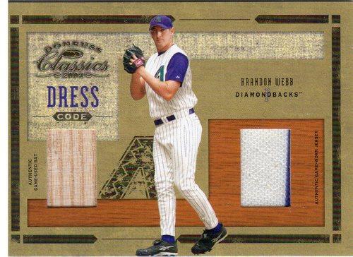 Photo of 2004 Donruss Classics Dress Code Combos Material #37 Brandon Webb Bat-Jsy