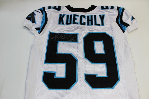 check out bf0a4 70c45 NFL Auction | PANTHERS LUKE KUECHLY GAME WORN AND SIGNED ...