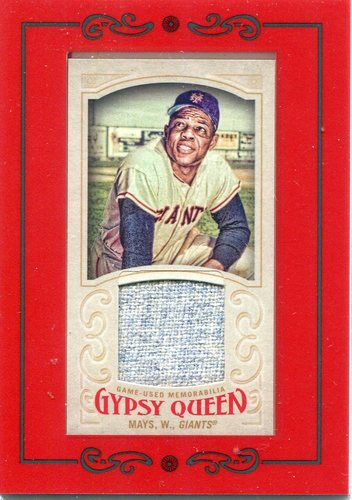 Photo of 2016 Topps Gypsy Queen Mini Relics Willie Mays Jersey -- Hall of Famer