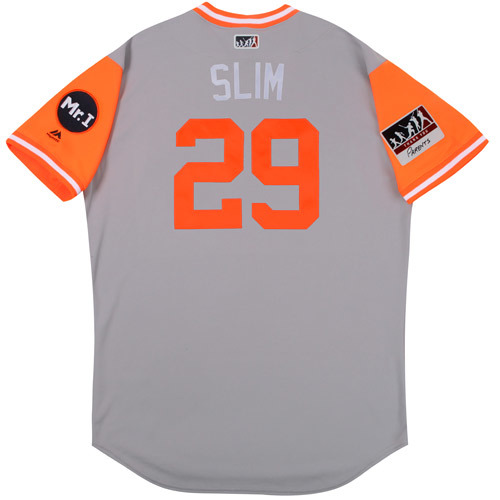 "Photo of Mick ""Slim"" Billmeyer Detroit Tigers 2017 Team-Issued Players Weekend Jersey"