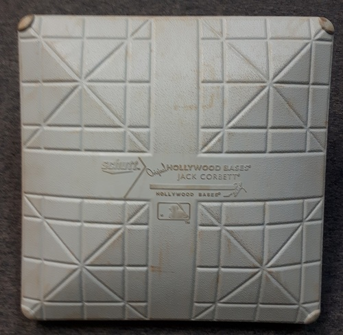 Photo of Authenticated Game Used Base - June 10, 2015. 8th Straight win for the Blue Jays (2nd Base for Innings 6 to 9)