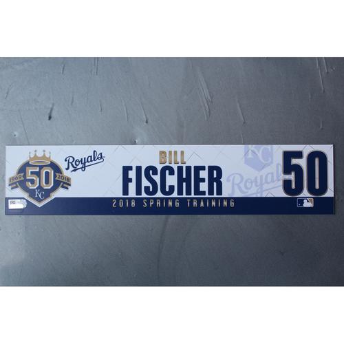 Photo of Spring Training Locker Nameplate: Bill Fischer