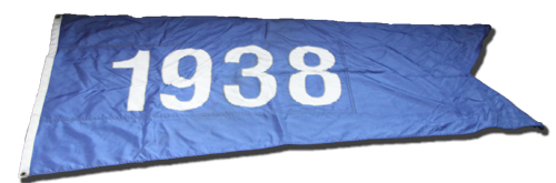 Photo of Wrigley Field Collection -- Rooftop Flag -- 1938