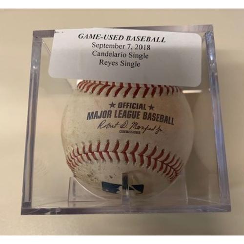Photo of Game-Used Baseball: Jeimer Candelario Single and Victor Reyes Single