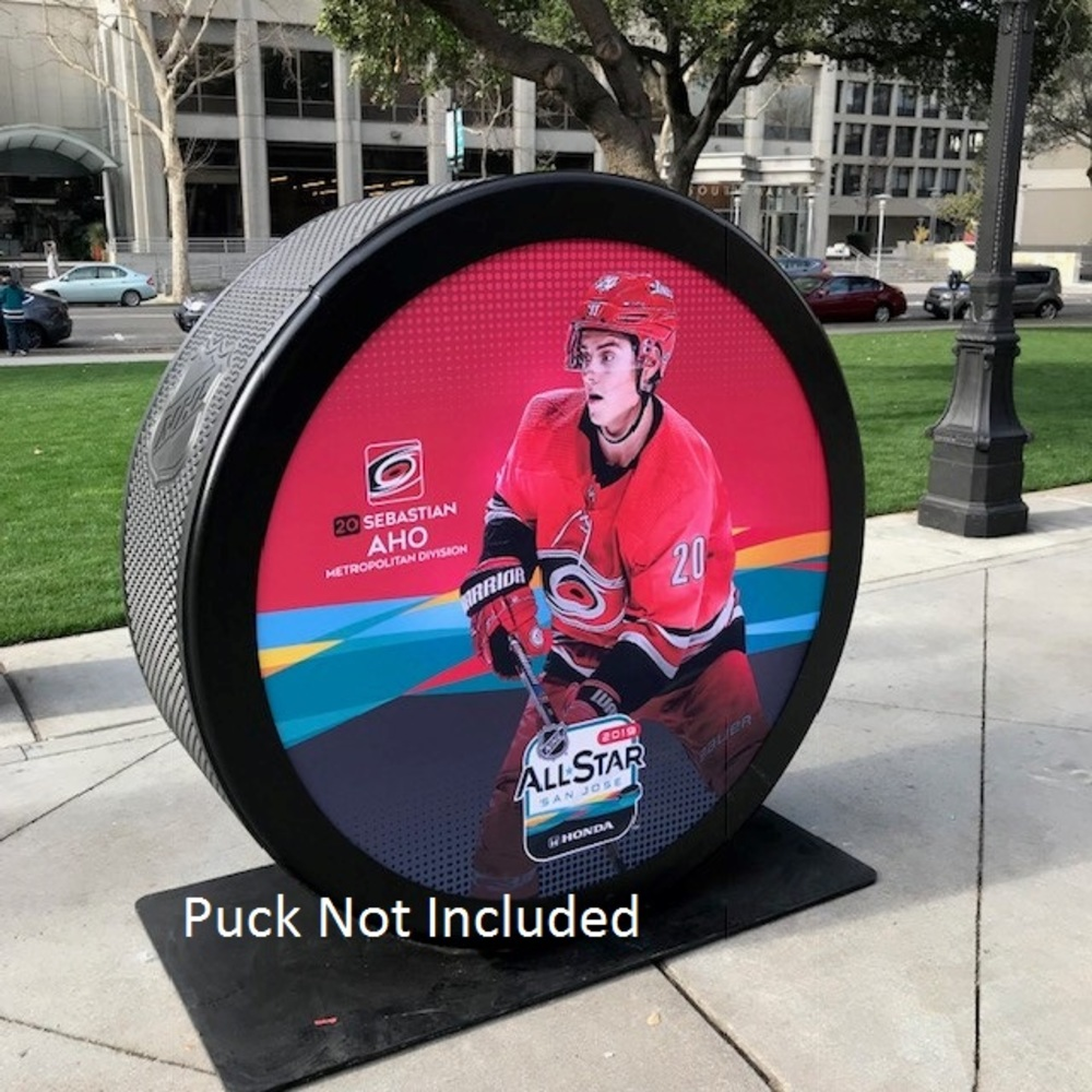 2019 NHL All Star Game Banner Featuring Sebastian Aho (Carolina Hurricanes)