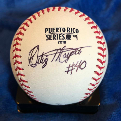 UMPS CARE AUCTION: 2018 Puerto Rico Series Crew Signed Baseball