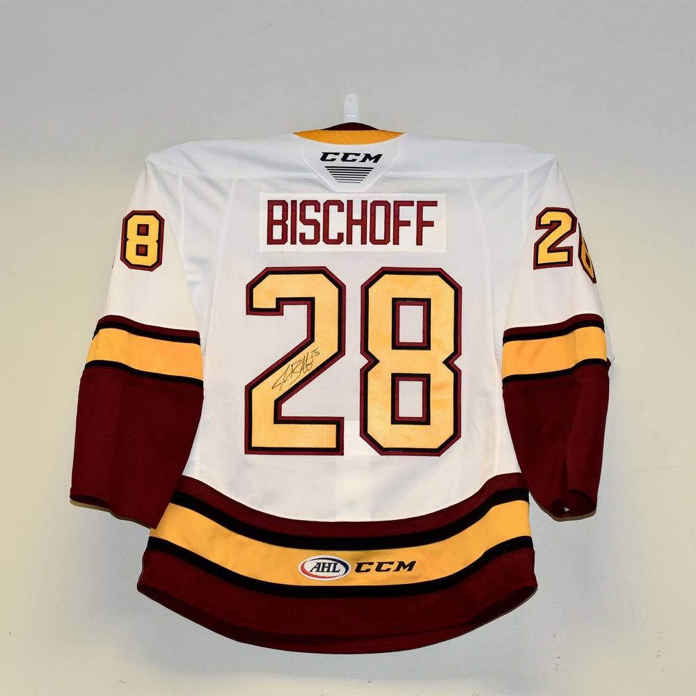 Chicago Wolves 2019 Calder Cup Finals Game 1 Jersey Worn and Signed by #28 Jake Bischoff