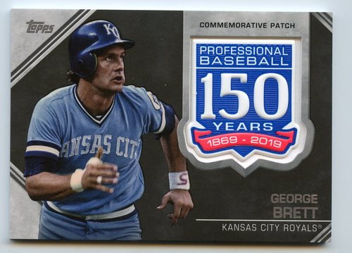 Photo of 2019 Topps 150th Anniversary Manufactured Patches #AMPGB George Brett S2